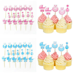 18-Pcs-Baby-Shower-Cupcake-Toppers-Boy-Girl-Favors-Party-Decorations-Supplies