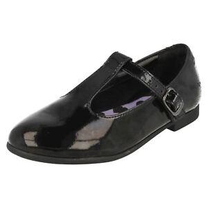 de la Black para Fudge niñas Clarks Clarks Zapatos bar escuela T Selsey C7qX1wxp