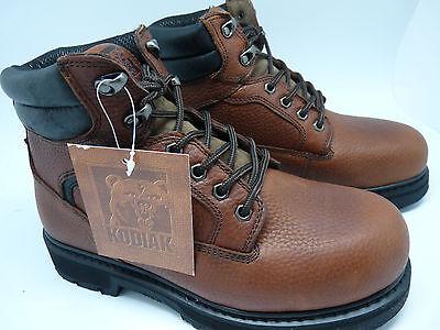 "Kodiak 'Trenton' Brown 6"" Steel Toe Leather Oil Resistant  EH Protect Work Boots"