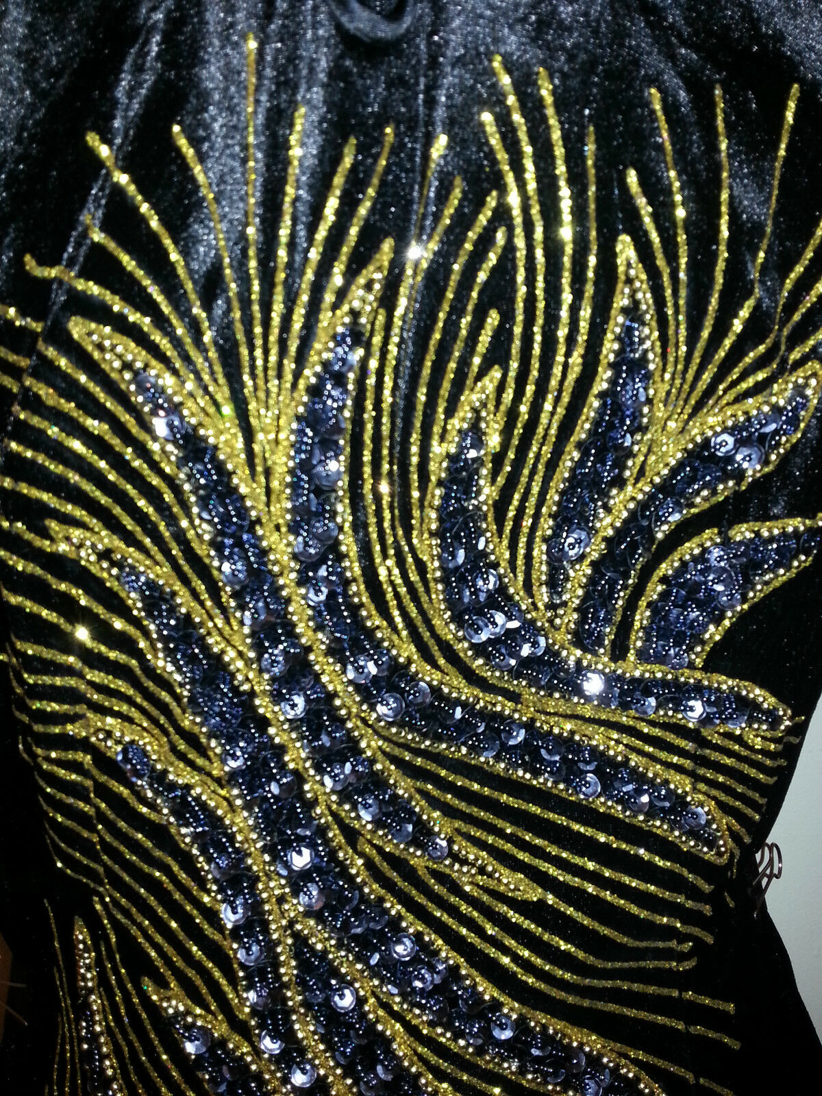 SALE  Größe 10 (M) (MN-BK) New Evening Dress Long Dress Party Gown With Sequins
