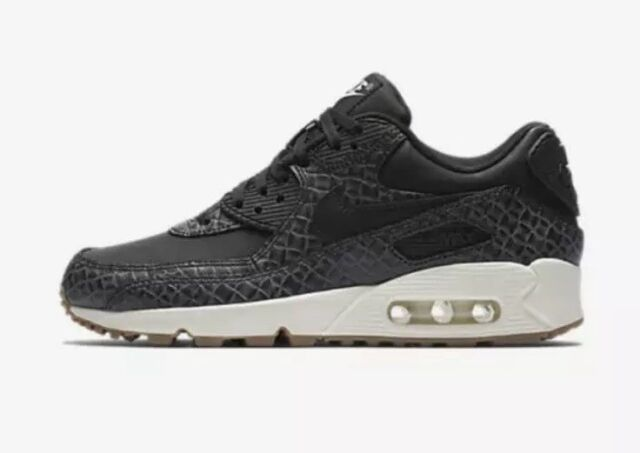 finest selection 7332c 71df3 Nike Air Max 90 Premium 443817-010 Women s US 7 Black Sail NEW  120