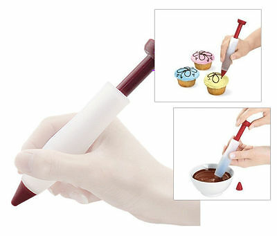 Cake Biscuit Decorating Pen Cookie Pastry Chocolate Silicone Syringe Cream Tool