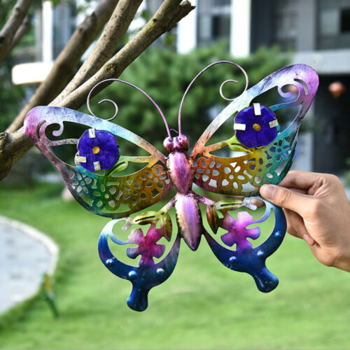 Butterfly Wall Art Fence Sculptures Metal Outdoor Patio Tree Home Garden Decor *
