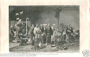 Jugglers-Prestidigitators-Theatre-Theater-Tokyo-Japon-Japan-GRAVURE-PRINT-1869