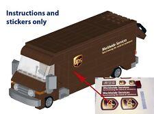 Instructions Stickers 4 LEGO UPS truck 60074 10185 10133 DHL FedEx USPS