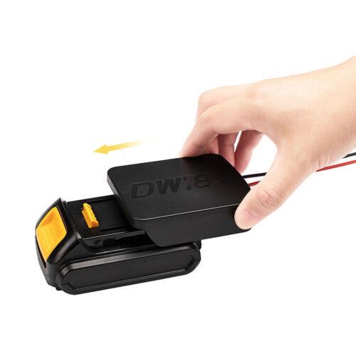 DIY Battery Adapter for Dewalt DCB 14.4V//18V//20V Connector Output Converter New