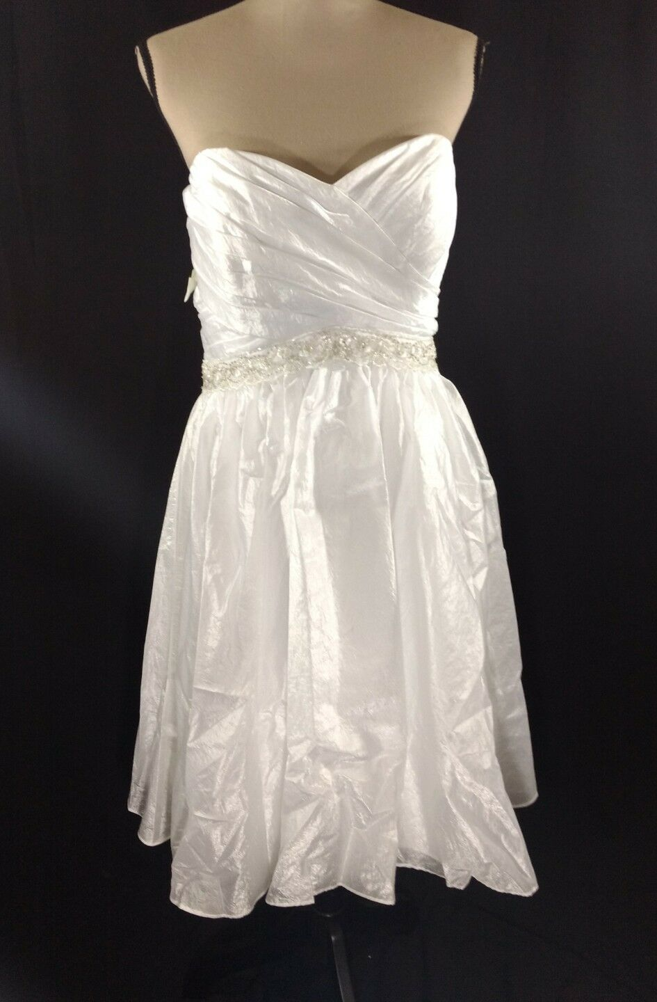 Alfred Angelo Short Strapless Fit And Flare Wedding Dress Size 16