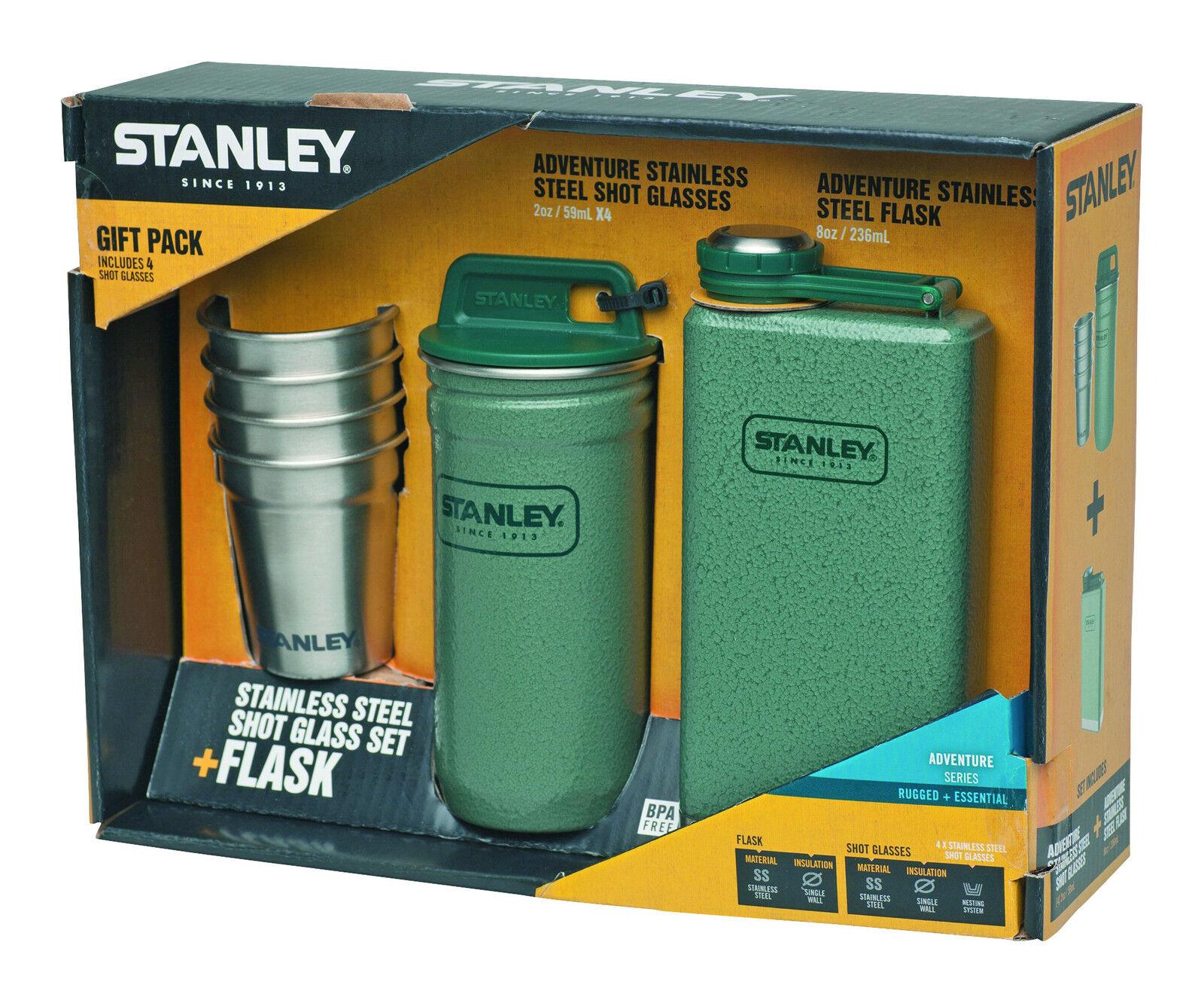 Stanley Adventure Steel Spririts Gift Set Taschenflasche Flachmann Pintchen-Set