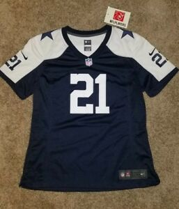 Image is loading Nike-Dallas-Cowboys-Ezekiel-Elliott-Jersey-Womens-Ladies- 75dd78a61