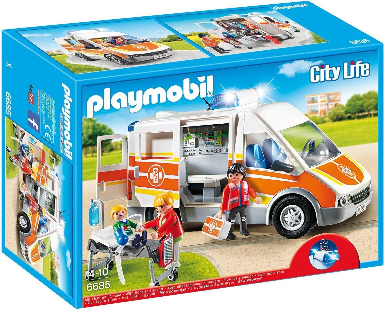 PLAYMOBIL  6685 Ambulanza con luce e suoni NUOVO OVP,  la migliore selezione di