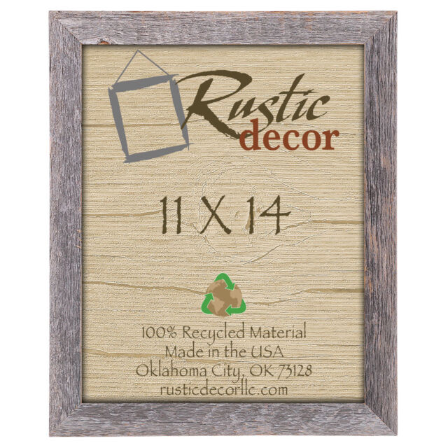 11x14 Picture Frames - Barnwood Reclaimed Wood 1.25\