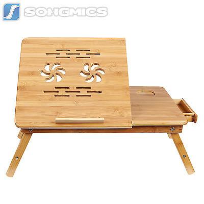 Songmics Bamboo Portable Laptop Desk Folding Breakfast Bed Serving Tray ULLD001