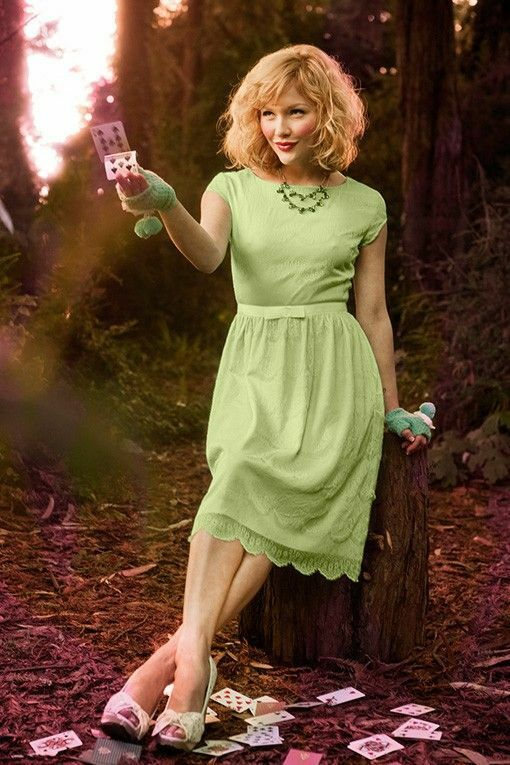 Shabby Apple Alice dress, Mint Grün Größe 0 2 XS S Orig. , worn once