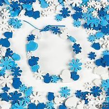Snowflake Winter Foam Beads Mittens Kids Craft 40 pcs