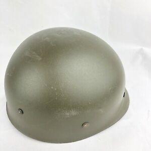 Vintage-Plastic-Army-Dutch-Helmet-Leather-Strap-and-Interior-Lining-HBA-1977
