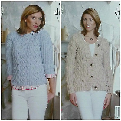 Knitting Pattern for a ladies cable jumper