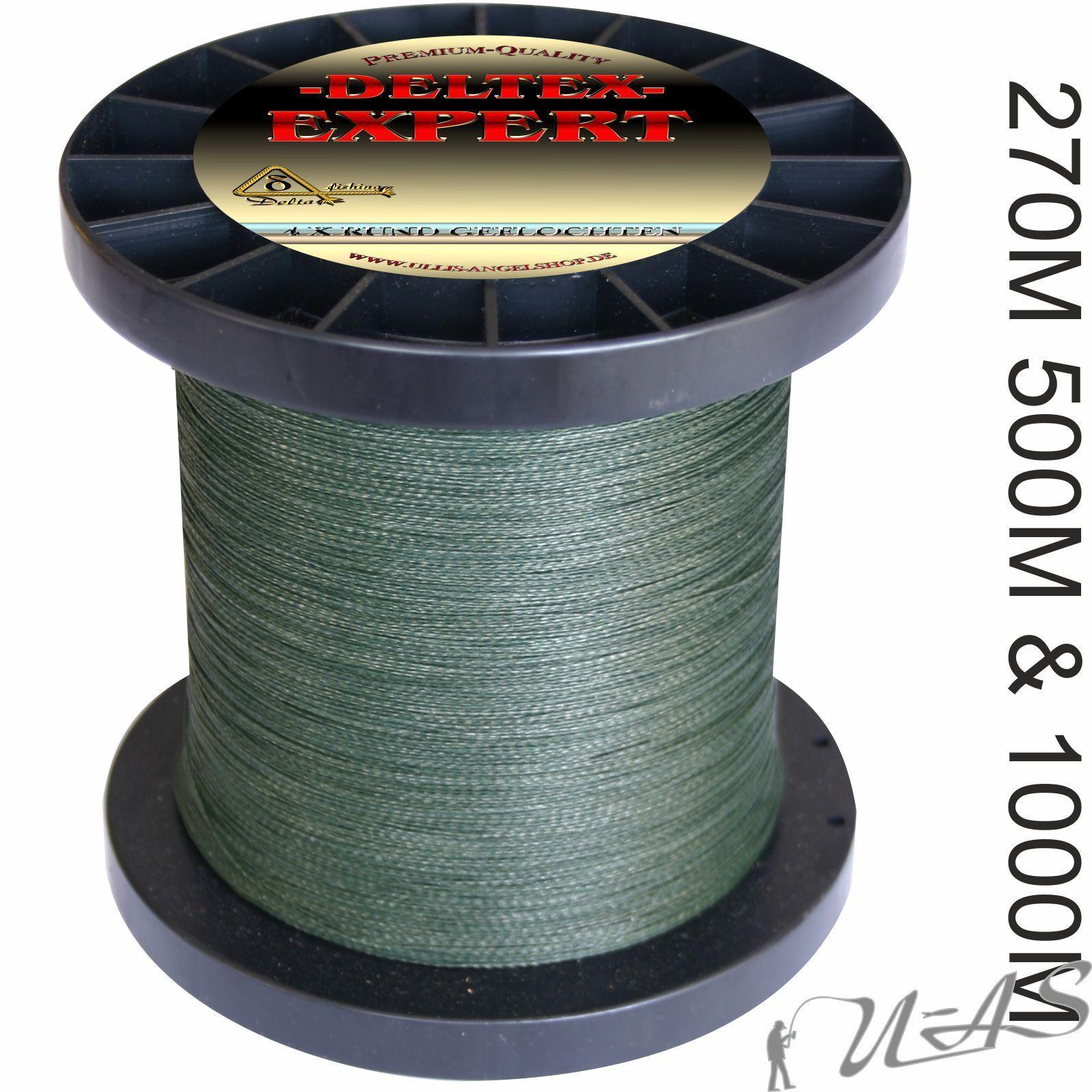 Deltex Expert Grün 270M 500M 1000M 4 X Rund Geflochtene Angelschnur Dyneema Kva  | Erste Kunden Eine Vollständige Palette Von Spezifikationen