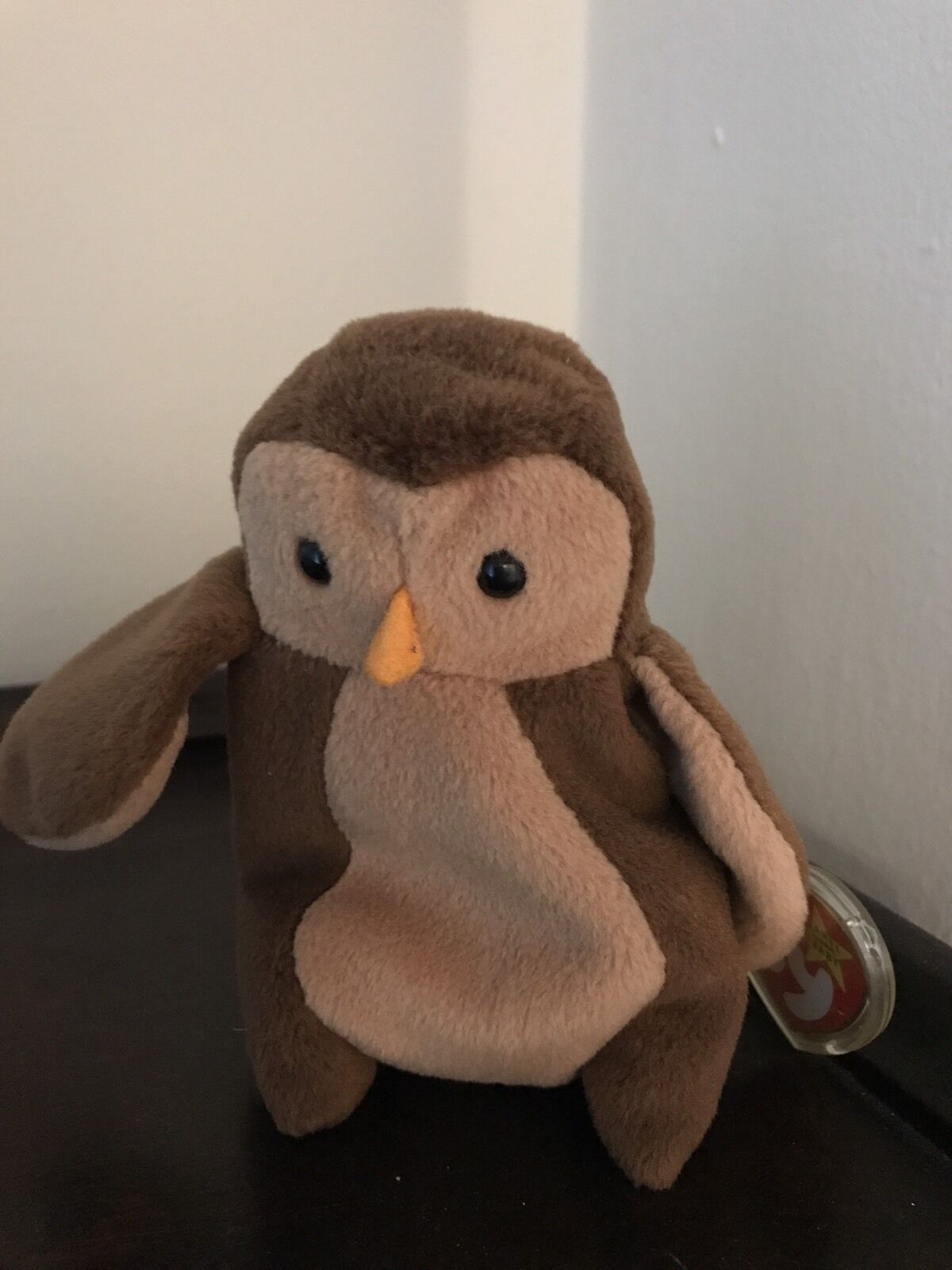 1995 Ty Beanie Baby Hoot the Owl w w w  Tag Predector and PVC Pellets 4e8ccd