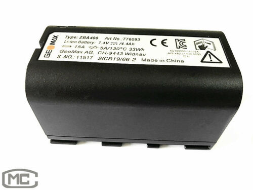 NEW ORIGINAL GEOMAX ZBA400 BATTERY FOR GEOMAX ZT80 TOTAL STATION
