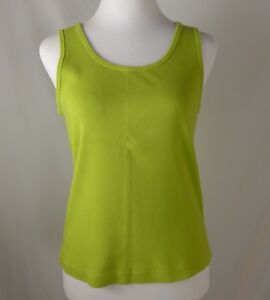 Chicos-Green-Cotton-Shirt-Tank-Top-Sleeveless-Size-1-Med