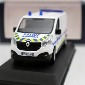 1-43-RENAULT-Trafic-of-2014-Police-Municipale-White-Window-Diecast-Models-NOREV