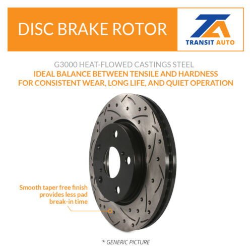 Front Rear Coated Drilled Slot Disc Brake Rotor /& Semi-Metallic Pad Honda Accord