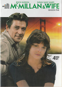 ROCK-HUDSON-McMILLAN-amp-WIFE-Season-5-4-DVD-SET-New-Unsealed-Region-1