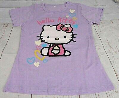 Hello Kitty Girls 100/% cotton beaded bow Tanks  Vest T-shirts Yr 2-8 98cm//128cm
