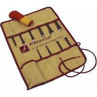 Craft Carver Kit Flexcut Tool Sk107 Palm Handle With Interchangable Blades