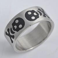 Lovely Stainless Steel Mens Womens Skull Band Ring,SZ 8-12,P0987-P0991