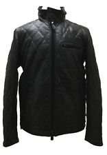 Coach 84002 Bowery Leather Quilted Jacket Lined Insulated Coat Black Medium