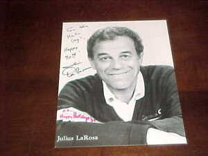 Music Julius La Rosa Singer Entertainer Signed Autographed 8x10 Photo Coa