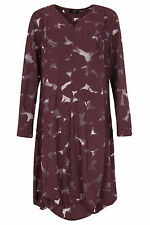 TOMO Women's Wine Colour Devore Tunic Model Nectaria Size 3 (UK 14-16) rrp £145