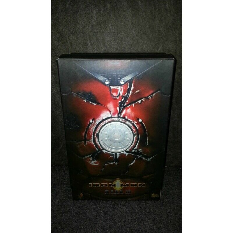 "Hot Toys Movie Masterpiece 12"" Poseable Model Iron Man Mark III Battle Damaged on eBay thumbnail"