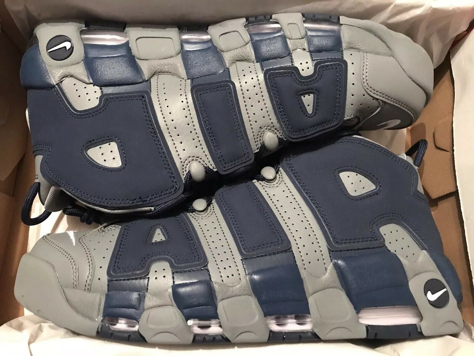 11e3b5d368 Nike Air More Uptempo 96 HOYAS Size 13 Grey White Navy 921948-003 New