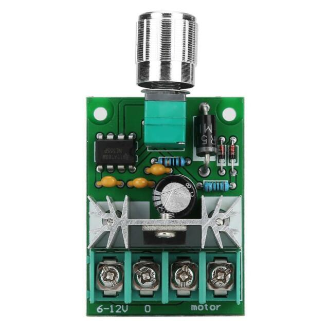 PWM DC Fan Speed Controller 6V-12V 6A High Power Stepless Speed Switch MF
