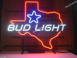 New Rare BUD LIGHT TEXAS State Map Star Bar Pub Display #0: s l300