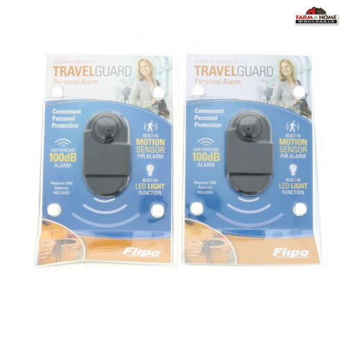 2 Travel Portable Personal Mini PIR Motion Sensor Detector Alarm ~ New