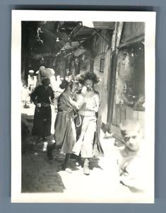 Palestine-Street-Vintage-print-Tirage-argentique-5x8-Circa-1940