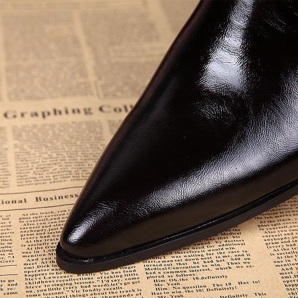 Zapatos De Vestir para En hombres Cuero Genuino De Patente En para punta Club nocturno Formal Zapatos Tallas bce2e4
