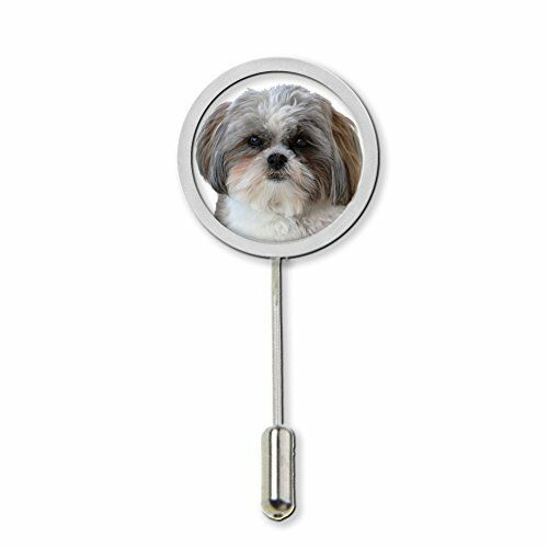 Shih Tzu Stick Pin Tie Pin Badge With Protector Ideal Birthday Gift C66
