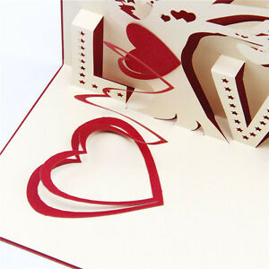Three-dimensional-Valentine-039-s-Day-Cards-Creative-Paper-cut-Greeting-Card