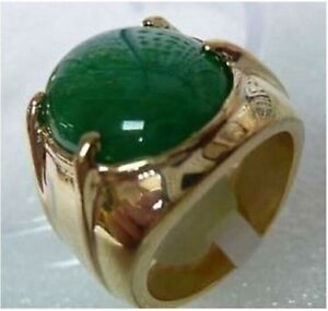 Mens jewelry REAL green jade ring size811 eBay