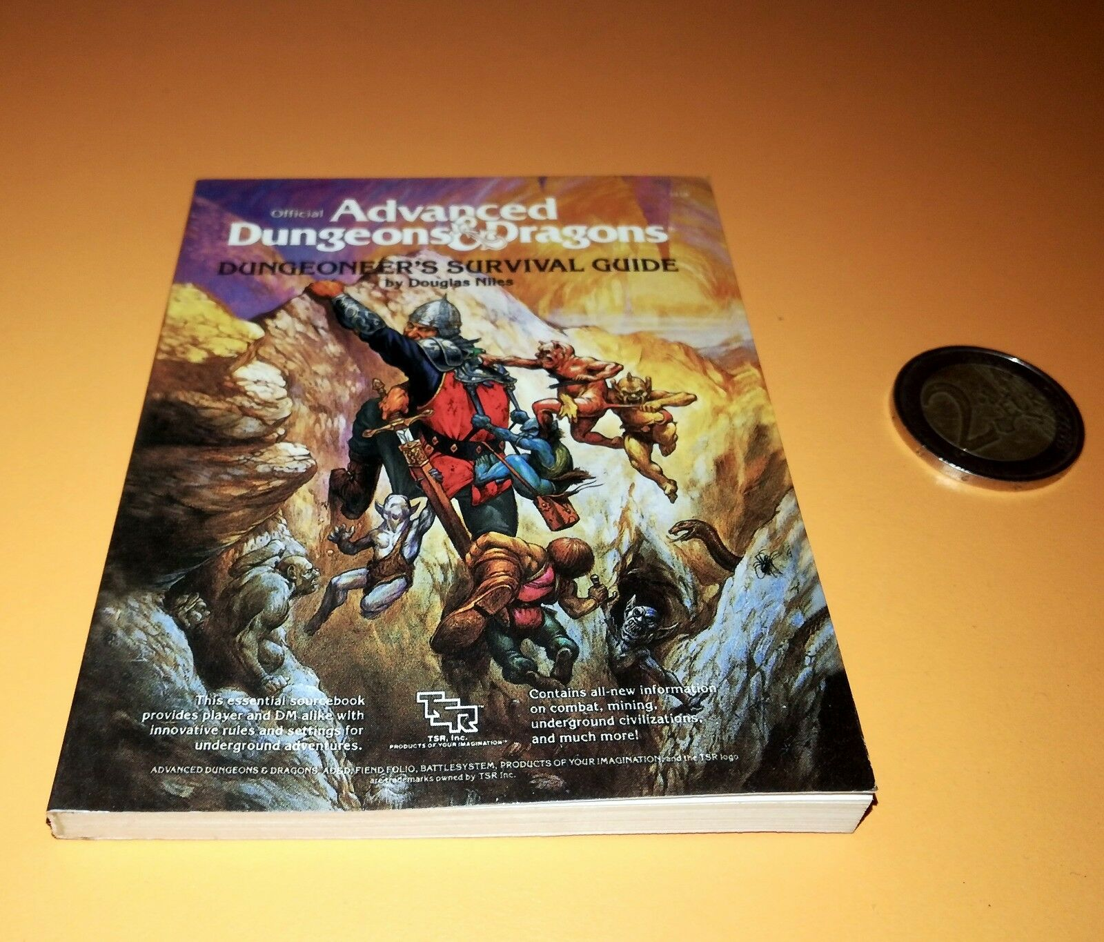 DUNGEONEER  SURVIVAL GUIDE Miniature version book AD&D Collector's Edition  TSR