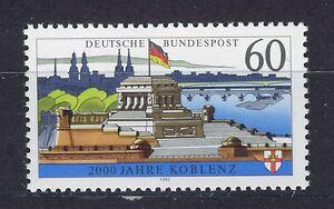 ALEMANIA-RFA-WEST-GERMANY-1992-MNH-SC-1696-Koblenz-city