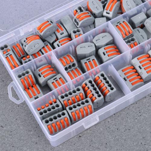 60 Stück 2//3//5 Loch Anschlussleiter Klemmenblock Elektrischer Kabelstecker Draht