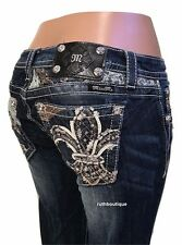 Miss Me Size 30 Glitter and Lacy Boot Cut Jeans JP8497BV $109.50