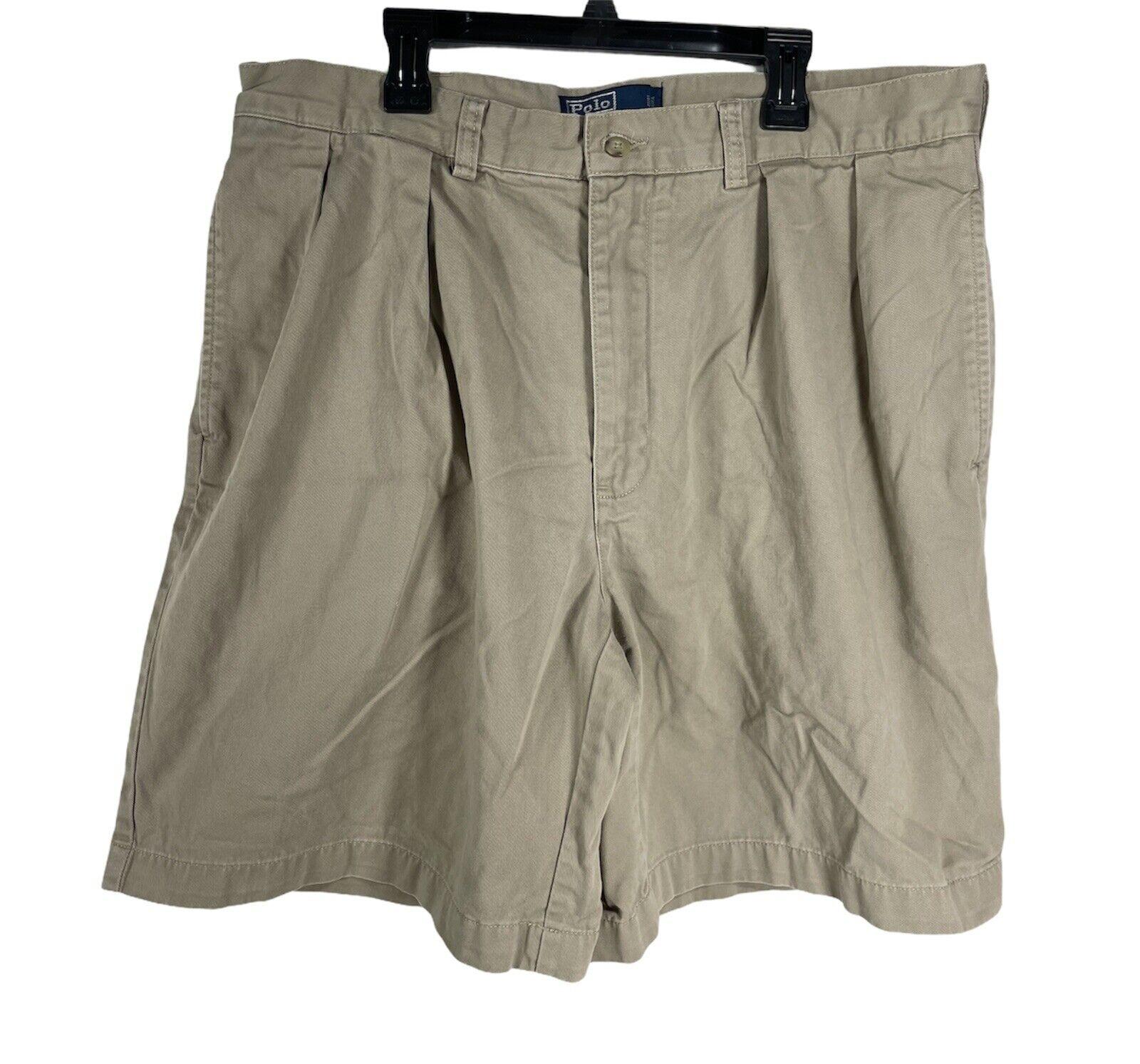 POLO RALPH LAUREN TYLER Shorts 36 Chino Pleated 9… - image 1