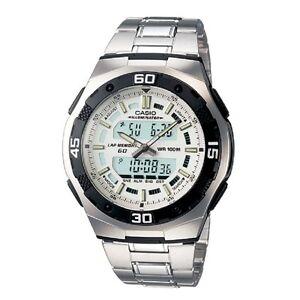Casio-AQ-164WD-7AV-White-Silver-Digital-Analog-Sports-Watch-Retail-Box-Included