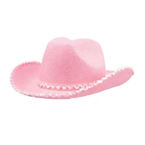 Donna Rosa Cowgirl Cowboy Hat Cappello Da Cowboy Addio al Celibato-Nubilato Costume di Scena